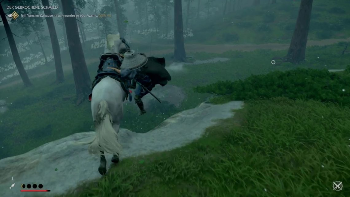Ghost of Tsushima – Horse mount fail
