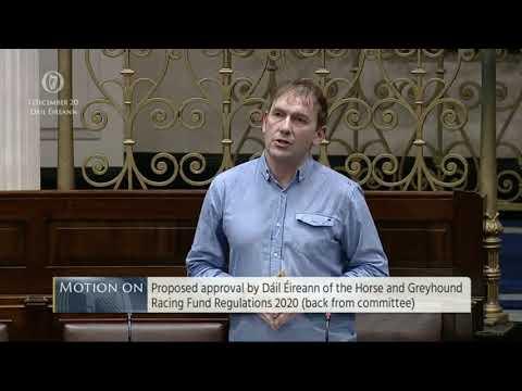 Gino Kenny TD: Règlement du fonds des courses de chevaux et de lévriers 2020