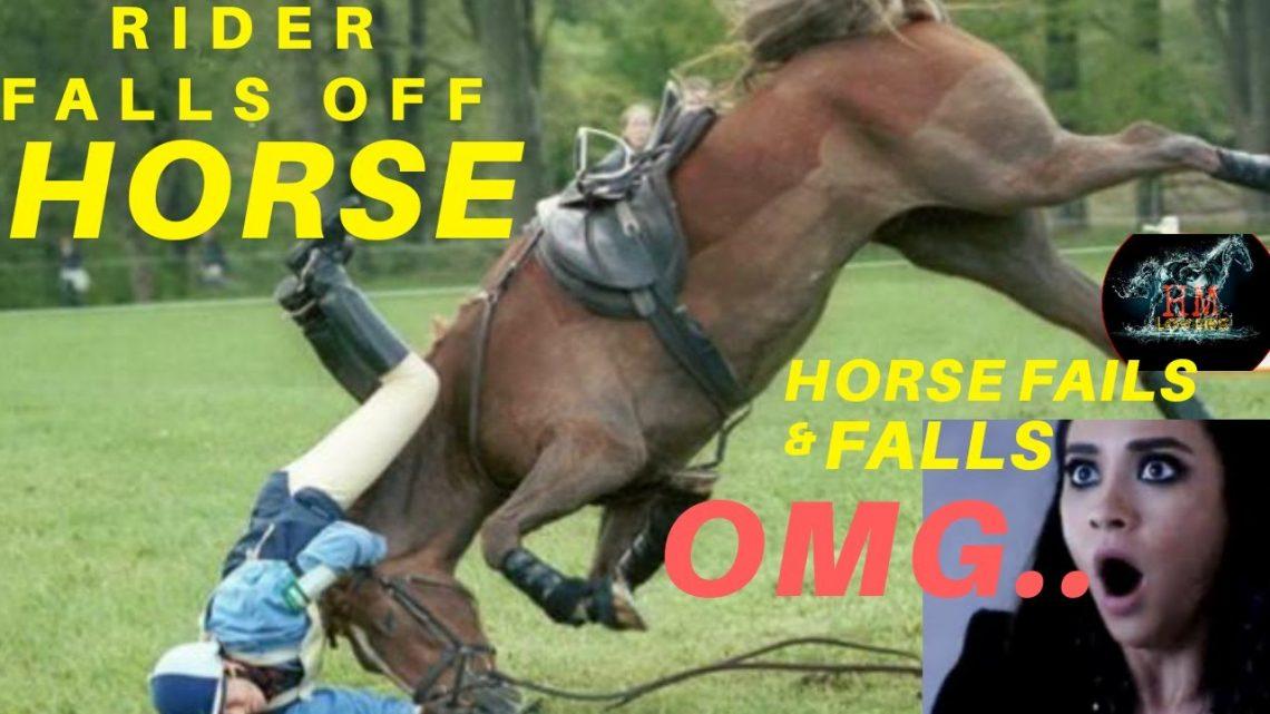 Nouvelle compilation d'automne 2020 ||  Le cheval tombe et échoue!  Cavalier tombe de cheval sautant