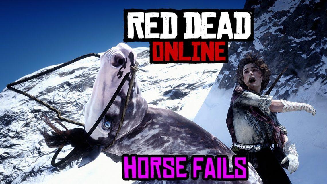 RDO Horse Funny échoue !!!!  (Attention cette vidéo est de la merde xD)