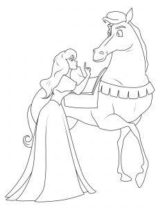 cheval dessin coloriage