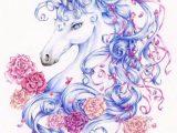 cheval et licorne mandala à coloriage