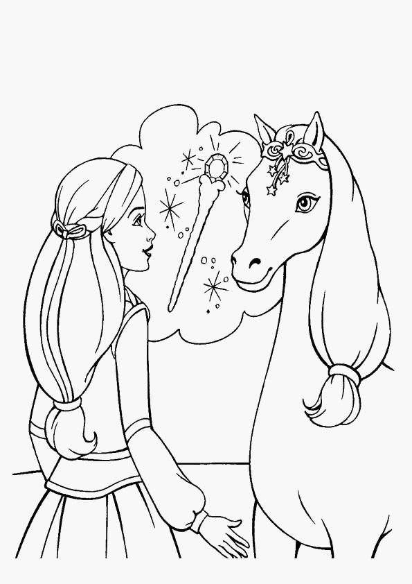 cheval image coloriage