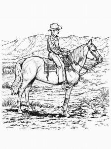 cheval mandala coloriage