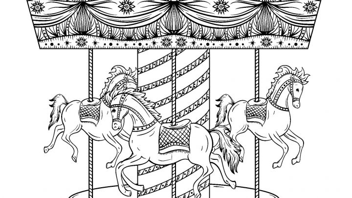 Coloriage Cheval Carrousel