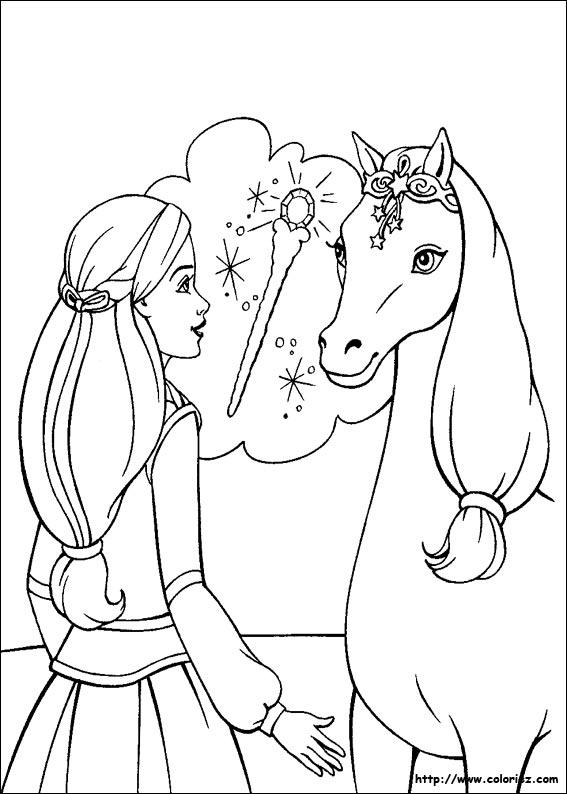 coloriage cheval noel