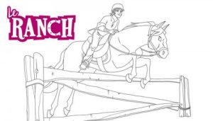 coloriage cheval saut d obstacle