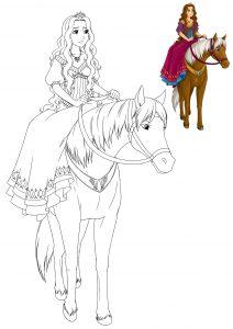 coloriage troupeau de chevaux