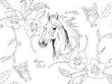 coloriage zen cheval