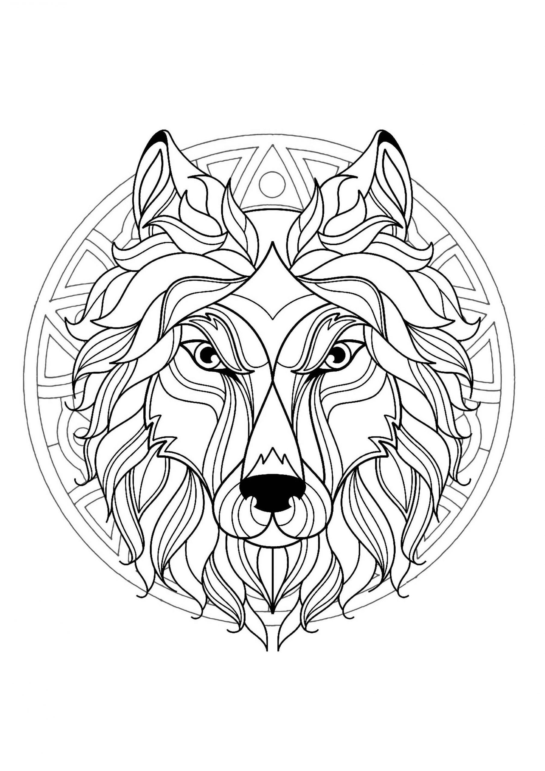 dessin de mandala de cheval