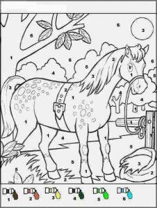 mandala cheval couleur