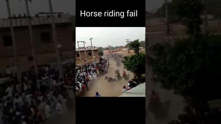 Horse riding fail