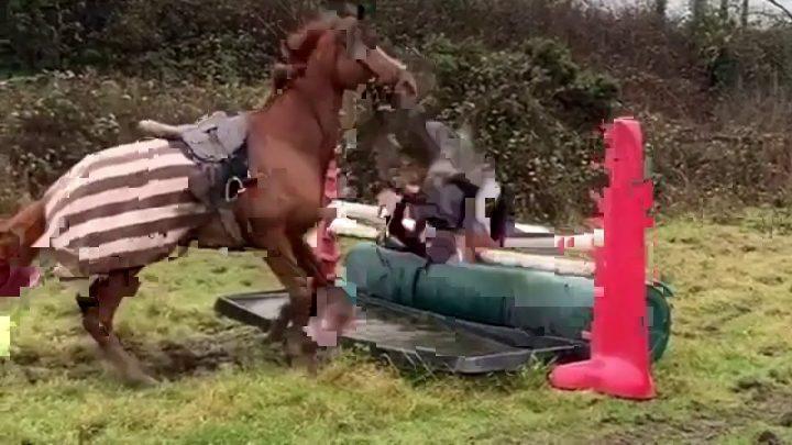 Le cheval échoue, dépasse, bloopers!