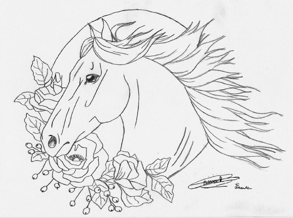 coloriage cheval bella sara