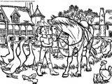 coloriage chevaux rigolo