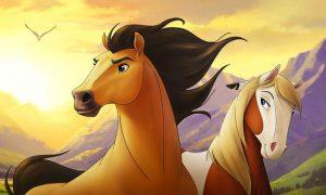 coloriage de chevaux de dressage