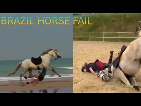 Brésil fail de cheval drôle |  accident de cheval |  A regarder