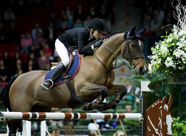 La jument olympique Malin Barjard-Jonsson Butterfly Flip est tombée