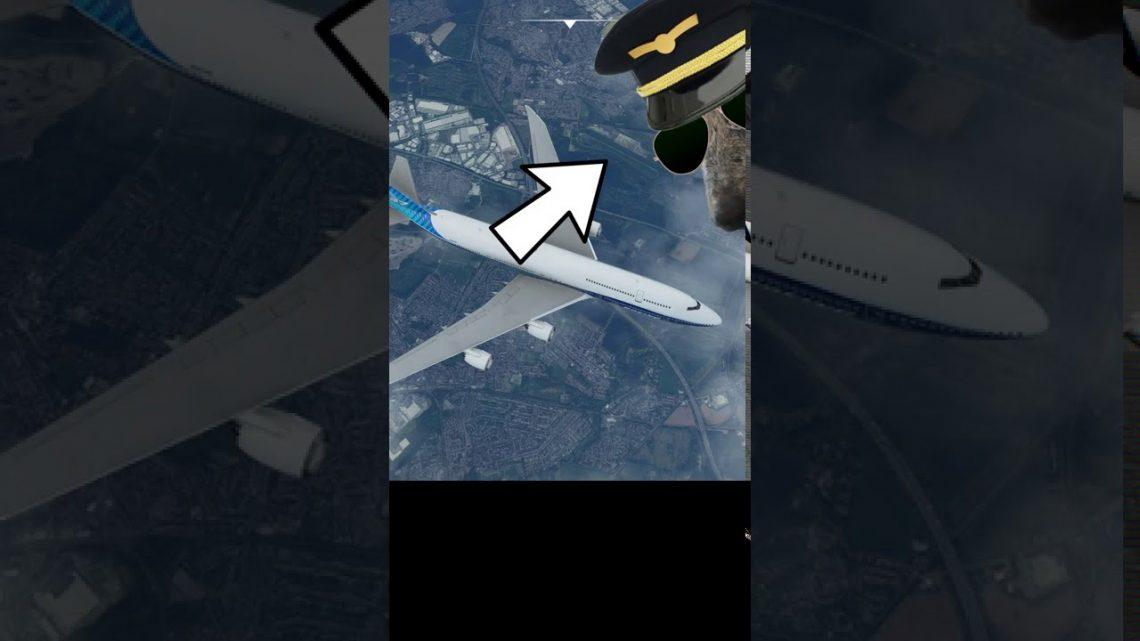Essayer d'atterrir sur une piste de cheval (#Shorts) Un vrai pilote joue à Microsoft Flight Simulator