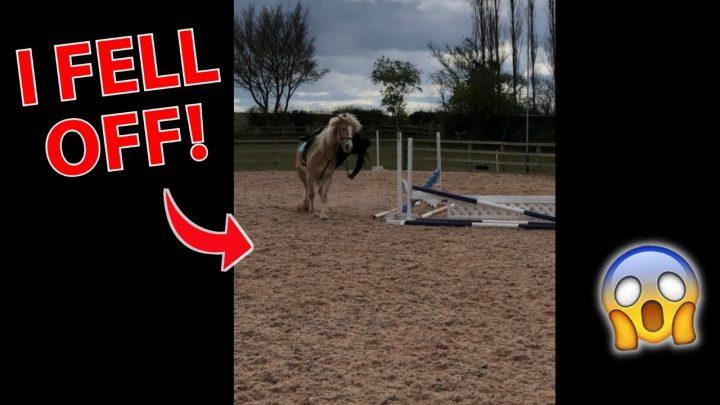 JE SUIS TOMBÉ!  – HORSE FAIL #shorts